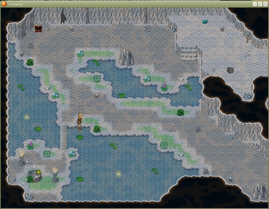 скрин на озере в игре Беглец