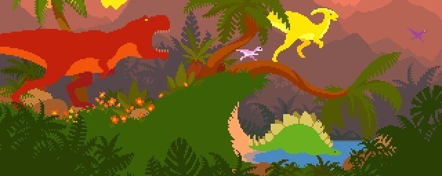 Dino run tribute by